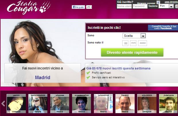 INCONTRI COUGAR GRATIS WEB
