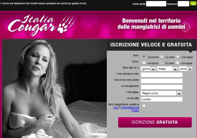 INCONTRI ONLINE MATURE ITALIA COUGAR