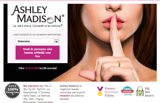 incontri ashley madison